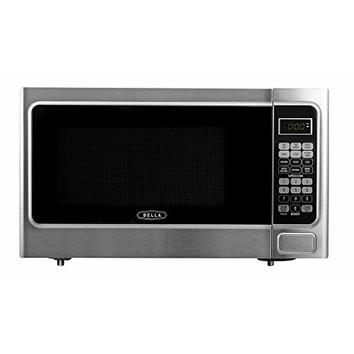 Bella-11-cu-ft-1000-Watt-Countertop-Microwave-Oven-in-Platinum-with-Stainless-Steel-0