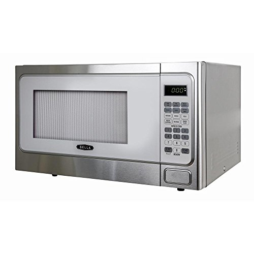 Bella-11-cu-ft1000-Watt-Countertop-Microwave-Oven-in-White-with-Stainless-Steel-0-0