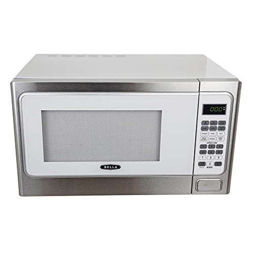 Bella-11-cu-ft1000-Watt-Countertop-Microwave-Oven-in-White-with-Stainless-Steel-0-1