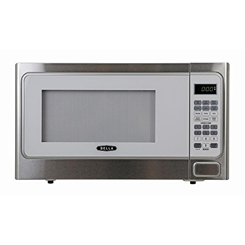 Bella-11-cu-ft1000-Watt-Countertop-Microwave-Oven-in-White-with-Stainless-Steel-0