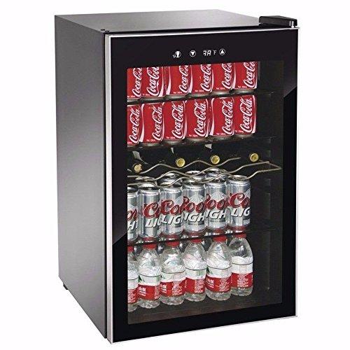 Beverage-Wine-Cooler-Center-Mini-Dorm-Refrigerator-Freezer-Black-Fridge-0