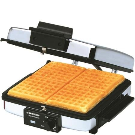 Black-Decker-3-in-1-9-square-Waffle-Maker-Indoor-GrillGriddle-with-removable-plates-0