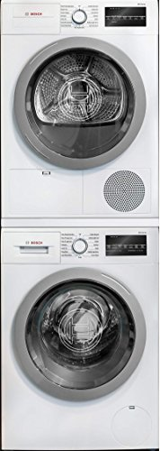 Bosch-500-Series-White-Front-Load-Compact-Stacked-Laundry-Pair-with-WAT28401UC-24-Washer-WTG86401UC-24-Electric-Condensation-Dryer-and-WTZ20410-Stacking-Kit-0