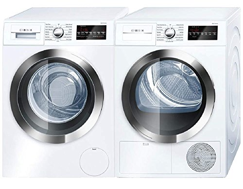 Bosch-800-Series-White-Front-Load-Compact-Laundry-Pair-with-WAT28402UC-24-Washer-and-WTG86402UC-24-Electric-Condensation-Dryer-0