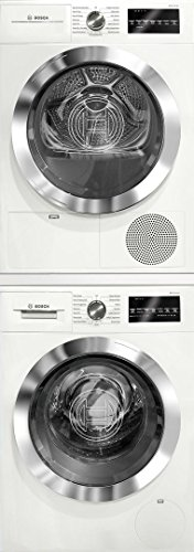 Bosch-800-Series-White-Front-Load-Compact-Laundry-Stacked-Pair-with-WAT28402UC-24-Washer-WTG86402UC-24-Electric-Condensation-Dryer-and-WTZ20410-Stacking-Kit-0-3