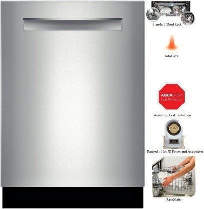 Bosch-SHP65TL5UC-500-Series-24-Dishwasher-with-Flush-Handle-16-Place-Settings-44-dBA-Sound-RackMatic-Delay-Start-Express-Cycle-Leak-Protection-InfoLight-and-Energy-Star-Rating-in-Stainless-0