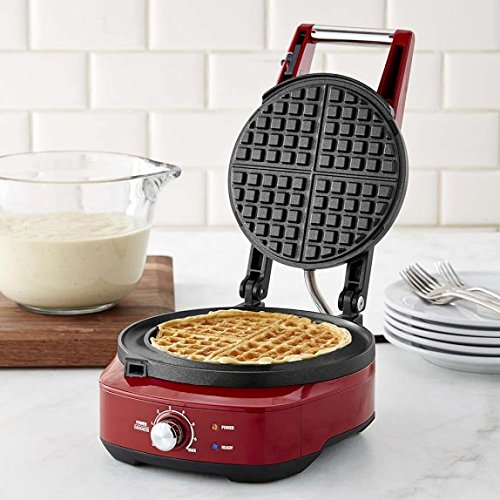 Breville-the-No-Mess-Classic-Round-Waffle-Maker-Cranberry-Red-BWM520CRN-0-0