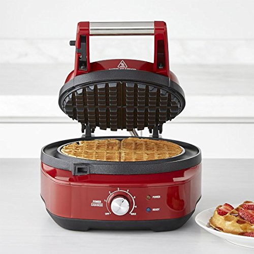 Breville-the-No-Mess-Classic-Round-Waffle-Maker-Cranberry-Red-BWM520CRN-0