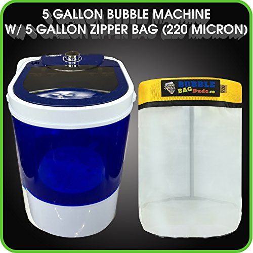 Bubble-Bag-Machine-6-Gallon-Small-Mini-Compact-Washer-Extracting-Mini-Washing-Machine-with-220-micron-Zipper-Bag-by-BUBBLEBAGDUDE-0