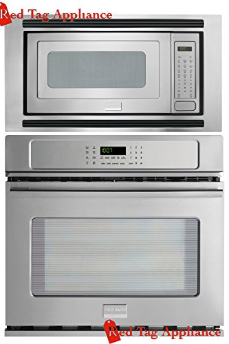 Bundle–3-items-Frigidaire-Professional-3-Piece-27-Stainless-Steel-Electric-Wall-OvenMicrowave-Combo-FPEW2785PF-FPMO209KF-MWTK27KF-0