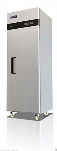 C-1F-23-Cuft-Stainless-Steel-Reach-In-Freezer-Single-Solid-Door-0