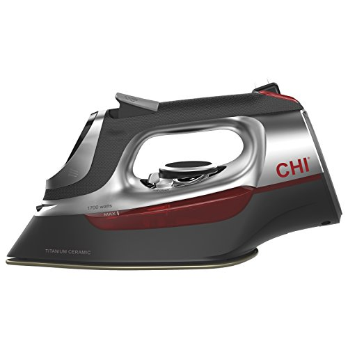 CHI-Professional-Steam-Iron-1700-Watts-with-Titanium-Infused-Ceramic-Soleplate-Over-300-Steam-Holes-13101-0