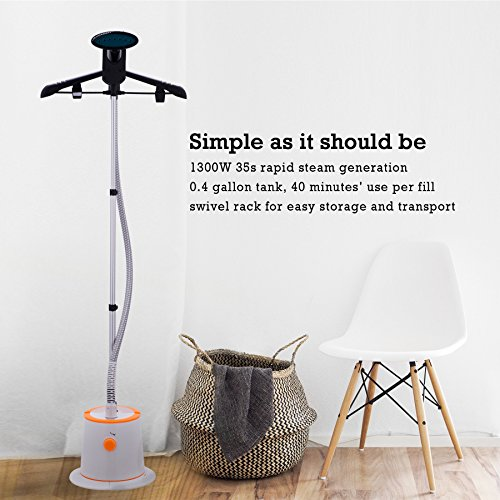 CO-Z-Large-Water-Tank-Fast-Steaming-Garment-Clothes-Stand-Fabric-Steamer-with-Garment-Hanger-and-Fabric-Brush-0-0