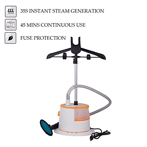 CO-Z-Large-Water-Tank-Fast-Steaming-Garment-Clothes-Stand-Fabric-Steamer-with-Garment-Hanger-and-Fabric-Brush-0-1