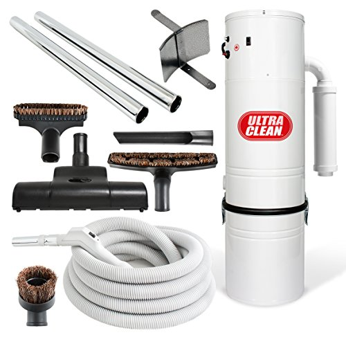 Central-Vacuum-Ultra-Clean-Unit-7500-sq-ft-with-Turbo-Power-Nozzle-and-30-foot-ONOFF-Control-Switch-Hose-Set-of-Wands-0