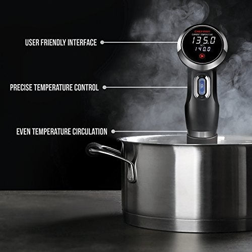 Chefman-Sous-Vide-Precision-Cooker-Thermal-Circulator-Immersion-Pod-with-Accurate-Temperature-Crystal-Clear-Digital-Timer-Display-and-Powerful-1000-Watts-Motor-BlackStainless-Steel-RJ39-V2-0-0
