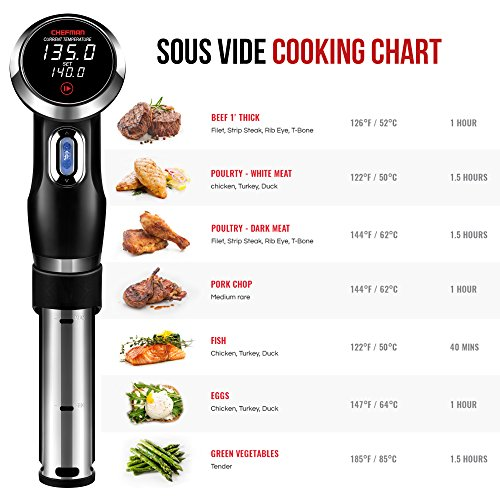 Chefman-Sous-Vide-Precision-Cooker-Thermal-Circulator-Immersion-Pod-with-Accurate-Temperature-Crystal-Clear-Digital-Timer-Display-and-Powerful-1000-Watts-Motor-BlackStainless-Steel-RJ39-V2-0-1
