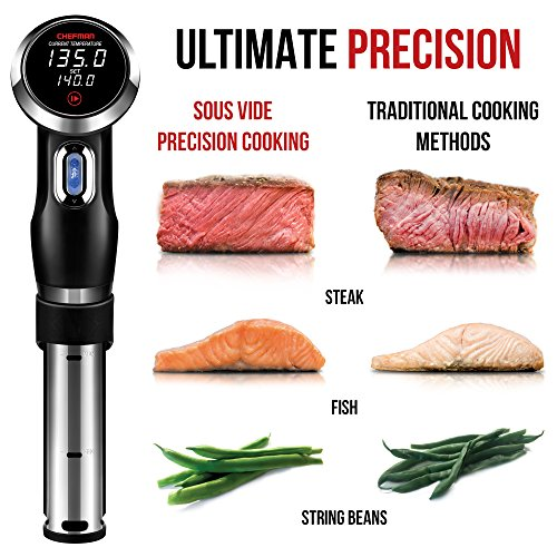 Chefman-Sous-Vide-Precision-Cooker-Thermal-Circulator-Immersion-Pod-with-Accurate-Temperature-Crystal-Clear-Digital-Timer-Display-and-Powerful-1000-Watts-Motor-BlackStainless-Steel-RJ39-V2-0-2