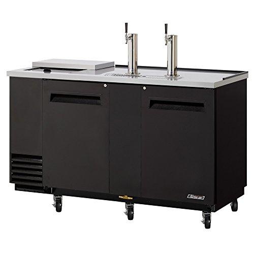 Club-Top-Beer-Dispenser-6913-L-2-Swing-Doors-Stainless-Steel-Countertop-And-Black-Laminated-Exterior-Stainless-Steel-Inside-Walls-Floor-Galvanized-Steel-Interior-Top-3-12-Barrel-Capacity-3-Dia-Stainle-0