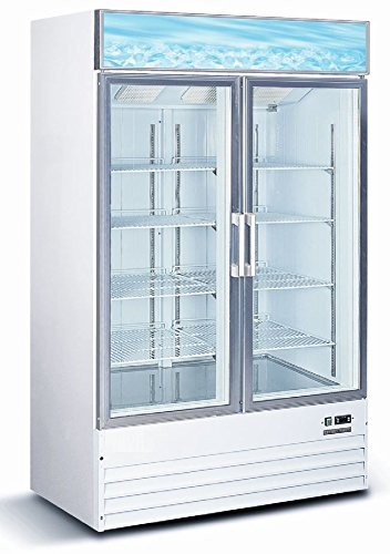 Commercial-Restaurant-Glass-Double-2-Door-Reach-in-Freezer-Ice-Merchandiser-0