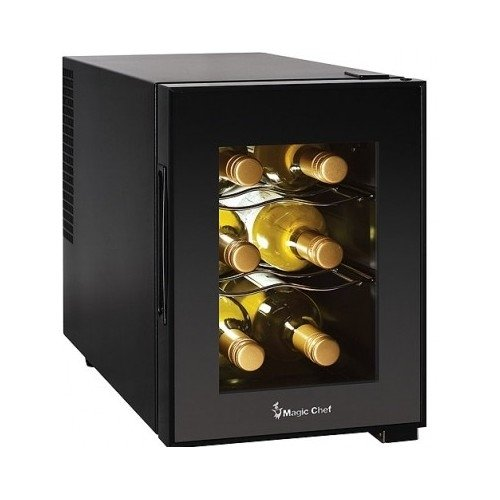 Compact-6-Bottle-2-Shelf-Wine-Cooler-Cabinet-Mini-Refrigerator-0