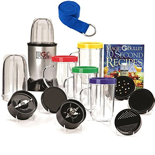 Compact-Countertop-Magic-Bullet-Blender-Multipurpose-Appliance-18-Piece-Express-Mixing-Set-Bones-10-Second-Recipe-Book-Plus-1-Prestee-Premium-Yoga-Strap-0