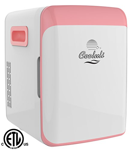 Cooluli-Electric-Mini-Fridge-Cooler-and-Warmer-15-Liter-18-Can-ACDC-Portable-Thermoelectric-System-Pink-0