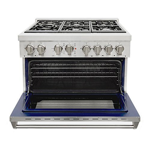 Cosmo-COS-Freestanding-Professional-Style-Dual-Fuel-Range-with-39-cu-ft-Electric-Convection-Oven-Italian-Made-Burners-Cast-Iron-Grates-in-Stainless-Steel-0-0