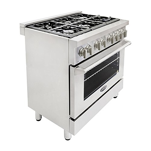 Cosmo-COS-Freestanding-Professional-Style-Dual-Fuel-Range-with-39-cu-ft-Electric-Convection-Oven-Italian-Made-Burners-Cast-Iron-Grates-in-Stainless-Steel-0-2