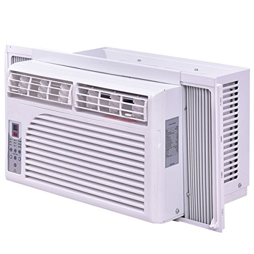 Costway-Cold-Air-Conditioner-Window-Mounted-Compact-w-Remote-Control-115V-White-0-2
