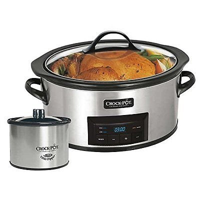 Crock-Pot-6-Quart-Countdown-Programmable-Oval-Slow-Cooker-with-Little-Dipper-Stainless-Steel-0