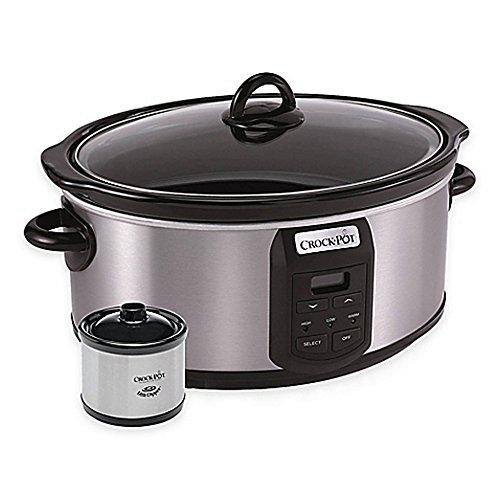 Crock-Pot-7-qt-Slow-Cooker-with-Little-Dipper-Warmer-0