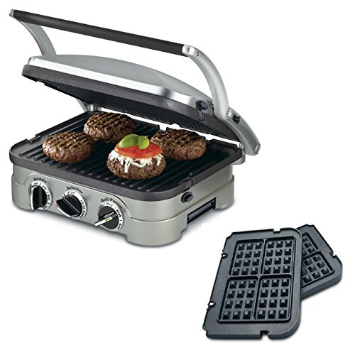 Cuisinart-5-in-1-Grill-Griddler-Panini-Maker-Bundle-with-Waffle-Attachment-GR-4N-Includes-Grill-and-Waffle-Plates-0