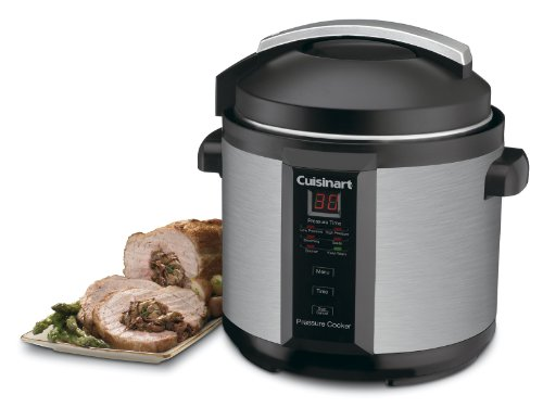 Cuisinart-CPC-600AMZ-1000-Watt-6-Quart-Electric-Pressure-Cooker-Brushed-Stainless-and-Matte-Black-0-0
