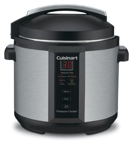 Cuisinart-CPC-600AMZ-1000-Watt-6-Quart-Electric-Pressure-Cooker-Brushed-Stainless-and-Matte-Black-0