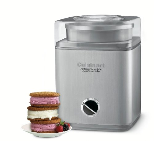 Cuisinart-ICE-30BCFR-Pure-Indulgence-2-quart-Frozen-Yogurt-Sorbet-Ice-Cream-Maker-Brushed-Stainless-Certified-Refurbished-0-0