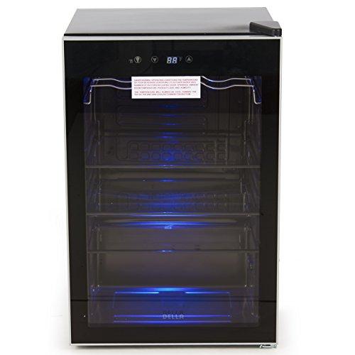 DELLA-048-GM-48198-Beverage-Wine-Cooler-Mini-Refrigerator-Digital-LED-Black-0-0