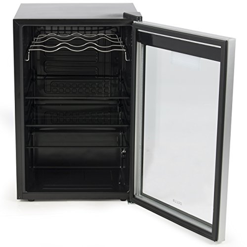 DELLA-048-GM-48198-Beverage-Wine-Cooler-Mini-Refrigerator-Digital-LED-Black-0-2
