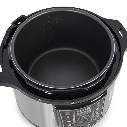 DELLA-048-GM-48237-10-quart-1400W-8-in-1-Programmable-Electric-Pressure-Cooker-Silver-Small-0-1