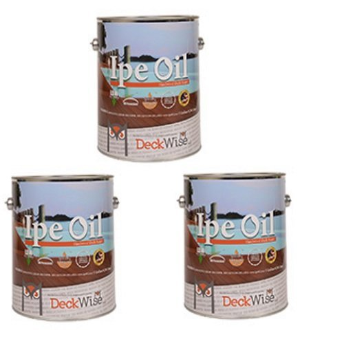 DeckWise-Ipe-Oil-Hardwood-Deck-Finish-UV-Resistant-3-Cans-1-Gallon-Each-0