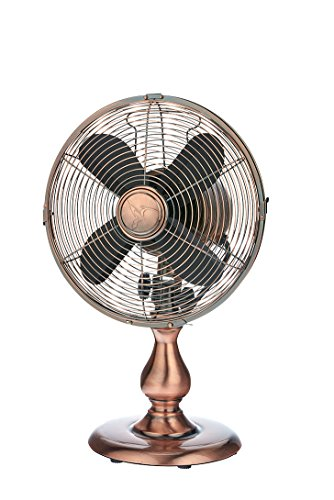 DecoBREEZE-10-Inch-Vintage-Metal-Table-Fan-Portable-Oscillating-Fan-Brushed-Copper-0-0