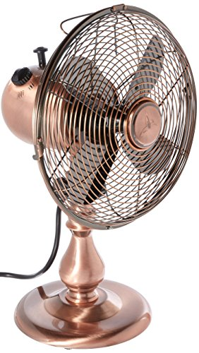 DecoBREEZE-10-Inch-Vintage-Metal-Table-Fan-Portable-Oscillating-Fan-Brushed-Copper-0