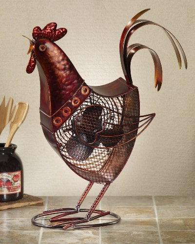 DecoBREEZE-Rooster-Figurine-Fan-Two-Speed-Electric-Circulating-Fan-0-0