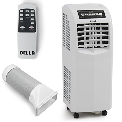 Della-8000-BTU-Portable-Air-Conditioner-Cooling-Fan-Dehumidifier-AC-Remote-Control-Window-Vent-Kit-White-0