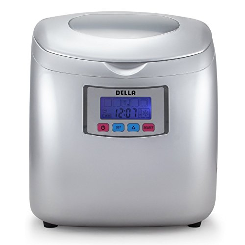 Della-Deluxe-Ice-Maker-LCD-Display-Portable-3-Cube-Sizes-Color-WhiteSilver-0-0