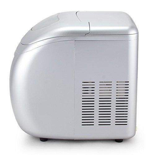Della-Deluxe-Ice-Maker-LCD-Display-Portable-3-Cube-Sizes-Color-WhiteSilver-0-2