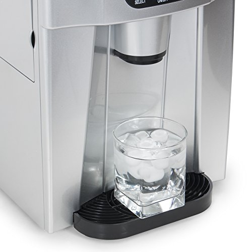 Della-Freestanding-Water-Dispenser-with-Built-In-Ice-Maker-Machine-26lbs-per-day-2-Size-Cube-White-Silver-0-1