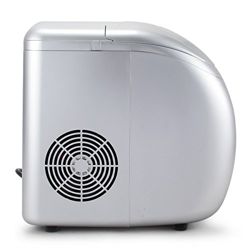 Della-Portable-Ice-Maker-Easy-Touch-Buttons-Countertop-Machine-3-Selectable-Cube-Sizes-White-Silver-0-1