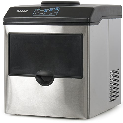 Della-Stainless-Steel-Water-Dispenser-w-Built-In-Ice-Maker-Machine-Counter-Portable-40-Pound-0-1