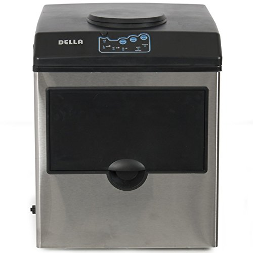 Della-Stainless-Steel-Water-Dispenser-w-Built-In-Ice-Maker-Machine-Counter-Portable-40-Pound-0-2